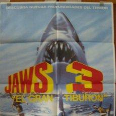 Cine: JAWS 3, EL GRAN TIBURÓN, CON DENNIS QUAID. POSTER.. Lote 34074248