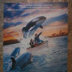 Cine: LIBERAD A WILLY 2. JASON JAMES RICHTER, AUGUST SCHELLENBERG. AÑO 1995.. Lote 81747239