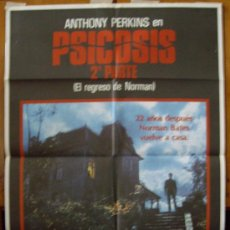 Cine: PSICOSIS 2, CON ANTHONY PERKINS.. POSTER.. Lote 34078082