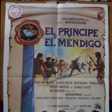 Cine: EL PRÍNCIPE Y EL MENDIGO, CON RAQUEL WELCH . POSTER.. Lote 34088435