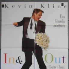 Cine: IN & OUT,KEVIN KLINE CARTEL DE CINE ORIGINAL 70X100 APROX (3649). Lote 34168589