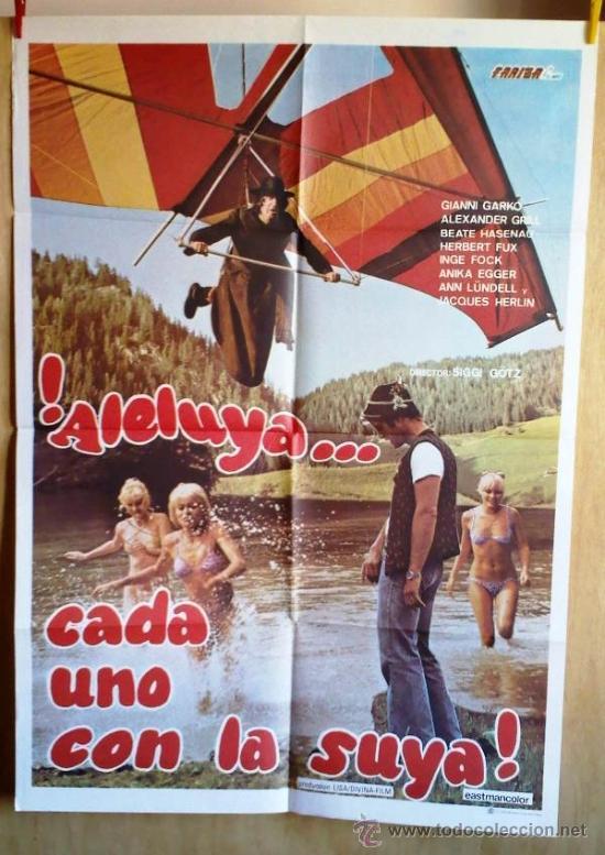 ¡ALELUYA... CADA UNO CON LA SUYA! (Cine - Posters y Carteles - Comedia)