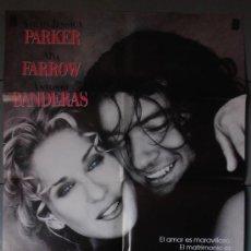 Cine: MIAMI,A.BANDERAS, MIA FARROW CARTEL DE CINE ORIGINAL 70X100 APROX (3857). Lote 34224745