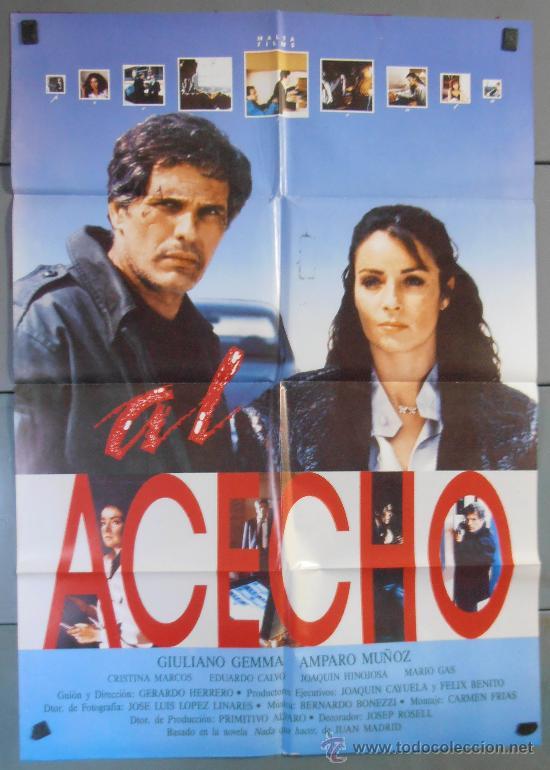 AL ACECHO,AMPARO MUÑOZ CARTEL DE CINE ORIGINAL 70X100 APROX (4052) (Cine - Posters y Carteles - Acción)