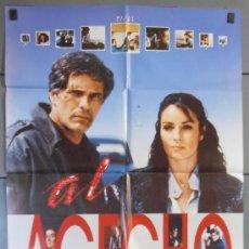 Cine: AL ACECHO,AMPARO MUÑOZ CARTEL DE CINE ORIGINAL 70X100 APROX (4052). Lote 34298126