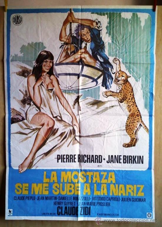 LA MOSTAZA SE ME SUBE A LA NARIZ (Cine - Posters y Carteles - Comedia)