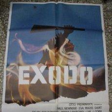 Cine: ÉXODO, POSTER ORIGINAL DE LA PELÍCULA 70X100CM. Lote 34315334