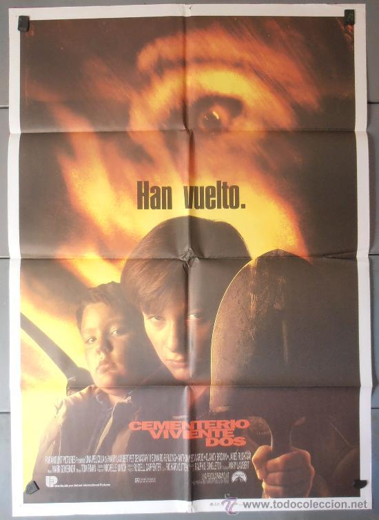 CEMENTERIO VIVIENTE DOS, CARTEL DE CINE ORIGINAL 70X100 APROX (4211) (Cine - Posters y Carteles - Terror)
