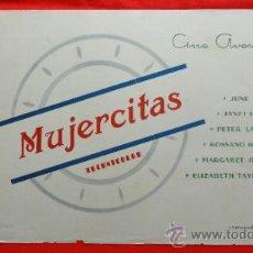 Cine: MUJERCITAS, CARTELITO LOCAL (45X32) AÑOS 50, ELIZABETH TAYLOR, CINE AVENIDA REUS. Lote 34361717