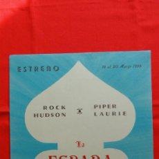 Cine: LA ESPADA DE DAMASCO, IMPECABLE CARTELITO LOCAL (45X32) AÑO 1955, ROCK HUDSON, CINE KURSAAL REUS. Lote 34362610