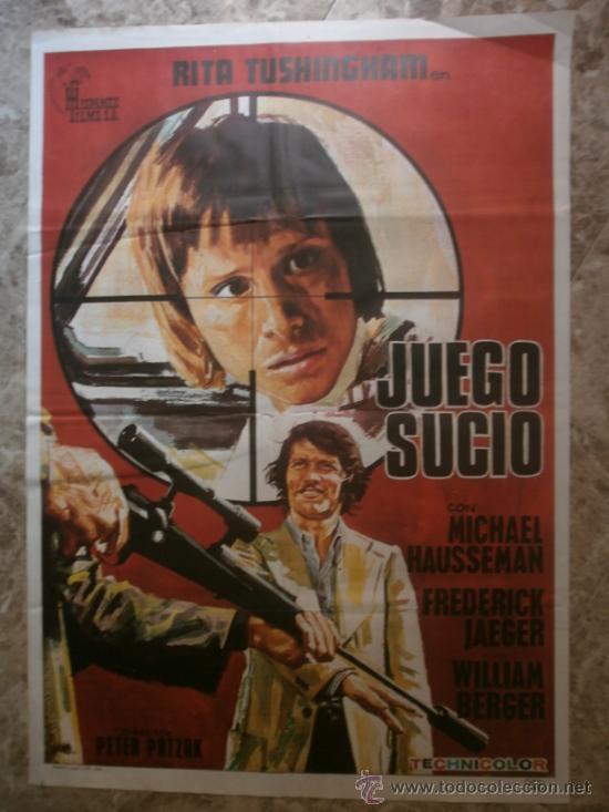 JUEGO SUCIO - MICHAEL HAUSSEMAN, FREDERICK JAEGER, WILLIAM BERGER - AÑO 1974 (Cine - Posters y Carteles - Suspense)