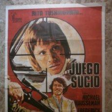 Cine: JUEGO SUCIO - MICHAEL HAUSSEMAN, FREDERICK JAEGER, WILLIAM BERGER - AÑO 1974. Lote 262691690