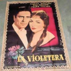 Cine: LA VIOLETERA SARA MONTIEL RAF VALLONE POSTER ORIGINAL FRANCÉS 1958 150 X 115 CMS. Lote 34401105