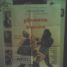 Cine: CARTEL DE CINE EL PLANETA DE LOS SIMIOS.(1968) CHARLTON HESTON.. Lote 34408737