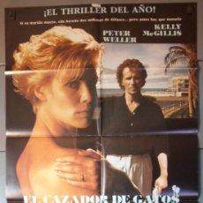 Cine: EL CAZADOR DE GATOS, CARTEL DE CINE ORIGINAL 70X100 APROX (4565). Lote 34429027