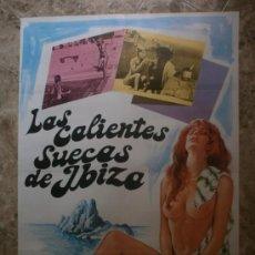 Cine: LAS CALIENTES SUECAS DE IBIZA. KETTY HILARIE, LOURENCE EYUARD, ALBAN CERAI. . Lote 34436992