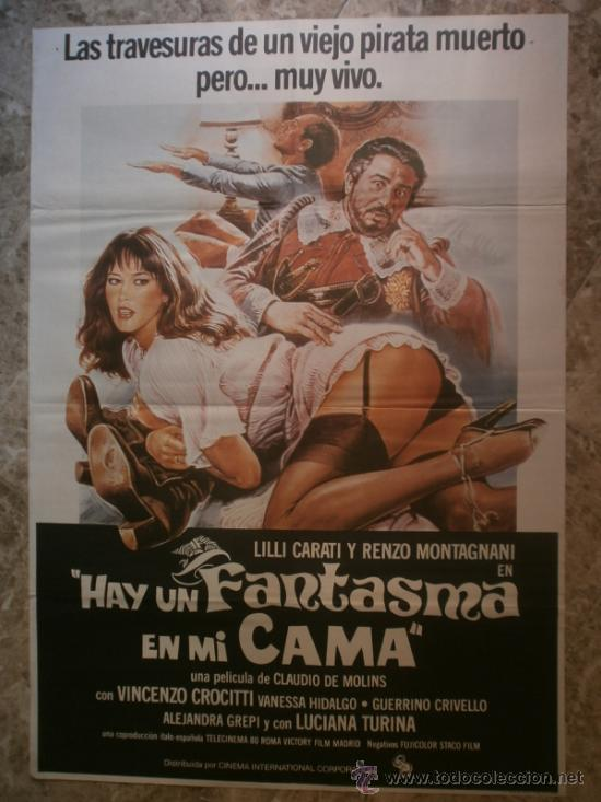 HAY UN FANTASMA EN MI CAMA. LILLI CARATI, RENZO MONTAGNANI. AÑO 1981. (Cine - Posters y Carteles - Comedia)