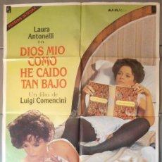 Cine: DIOS MIO COMO HE CAIDO TAN BAJO, CARTEL DE CINE ORIGINAL 70X100 APROX (4872). Lote 34531370