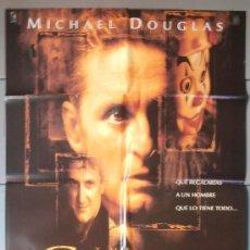 Cine: THE GAME,MICHAEL DOUGLAS CARTEL DE CINE ORIGINAL 70X100 APROX (5023). Lote 34561997