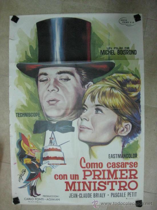 COMO CASARSE CON UN PRIMER MINISTRO - JEAN-CLAUDE BRIALY, PASCALE PETIT - VM. YANET, AÑO 1965 (Cine- Posters y Carteles - Drama)