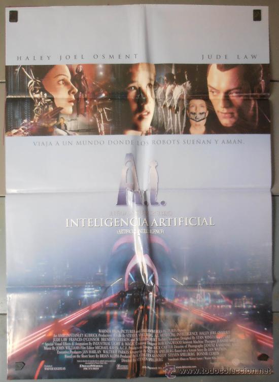 INTELIGENCIA ARTIFICIAL , CARTEL DE CINE ORIGINAL 70X100 APROX (5285) (Cine - Posters y Carteles - Ciencia Ficción)