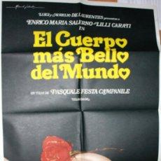 Cine: CARTEL DE CINE GRANDE DE LA PELICULA EL CUERPO MAS BELLO DEL MUNDO. Lote 34898029
