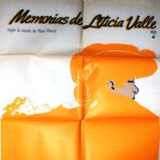 Cine: CARTEL DE CINE GRANDE DE LA PELICULA MEMORIAS DE LETICIA VALLE. Lote 34903813