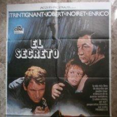 Cine: EL SECRETO. JEAN-LOUIS TRINTIGNANT, MARLENE JOBERT, PHILIPPE NOIRET. AÑO 1975. Lote 222527570