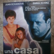 Cine: UNA CASA EN LAS AFUERAS. JUAN ECHANOVE, EMMA SUAREZ, TANIA HENCHE.. Lote 55590116