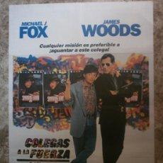 Cinema: COLEGAS A LA FUERZA. MICHAEL J.FOX, JAMES WOODS. AÑO 1990.. Lote 34708435