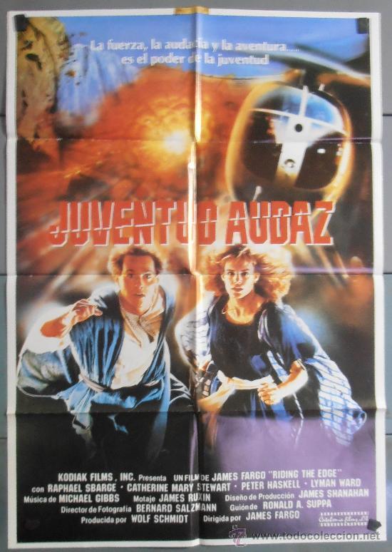 JUVENTUD AUDAZ, CARTEL DE CINE ORIGINAL 70X100 APROX (5867) (Cine - Posters y Carteles - Aventura)