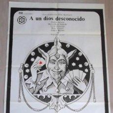 Cine: A UN DIOS DESCONOCIDO 1977 JAIME CHÁVARRI CARTEL POSTER ORIGINAL ESTRENO 100 X 70 PERFECTO. Lote 40954503