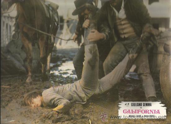 == RR05 - FOTOGRAMA DE LA PELICULA - CALIFORNIA - GIULIANO GEMMA - MIGUEL BOSE - PAOLA BOSE (Cine - Posters y Carteles - Westerns)