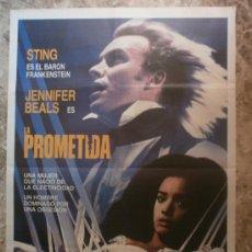 Cine: LA PROMETIDA. STING, JENNIFER BEALS. AÑO 1985.. Lote 34898219