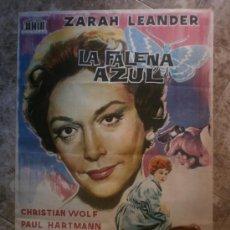 Cine: LA FALENA AZUL. ZARAH LEANDER, CHRISTIAN WOLF, PAUL HARTMANN. AÑO 1962. Lote 84945444