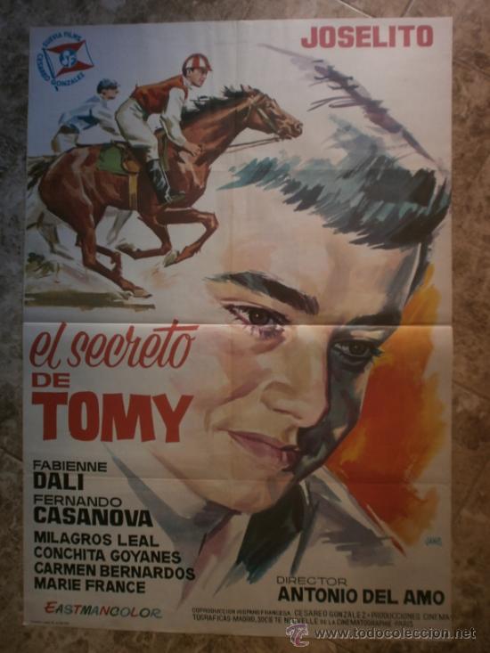 EL SECRETO DE TOMY - JOSELITO, FABIENNE DALI, FERNANDO CASANOVA - AÑO 1963 (Cine - Posters y Carteles - Clasico Español)