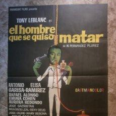 Cine: EL HOMBRE QUE SE QUISO MATAR. TONY LEBLANC, ANTONIO GARISA, ELISA RAMIREZ. AÑO 1970.. Lote 117719640