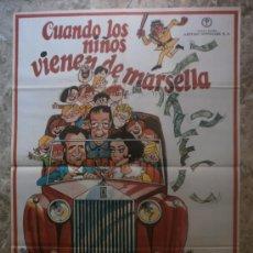 Cine: CUANDO LOS NIÑOS VIENEN DE MARSELLA. MANOLO ESCOBAR, SARA LEZANA, ANTONIO GARISA. AÑO 1974.. Lote 69907819