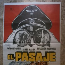 Cinema: EL PASAJE. ANTHONY QUINN, JAMES MASON, MALCOLM MCDOWELL. AÑO 1979. Lote 35076160
