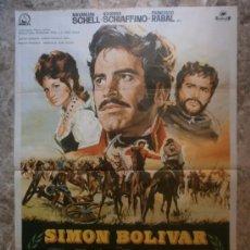 Cine: SIMON BOLIVAR. MAXIMILIAN SCHELL, ROSANNA SCHIAFFINO, FRANCISCO RABAL. AÑO 1969.. Lote 35078514