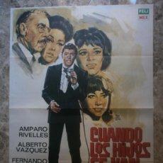 Cine: CUANDO LOS HIJOS SE VAN. AMPARO RIVELLES, ALBERTO VAZQUEZ, FERNANDO SOLER. AÑO 1970.. Lote 35081629