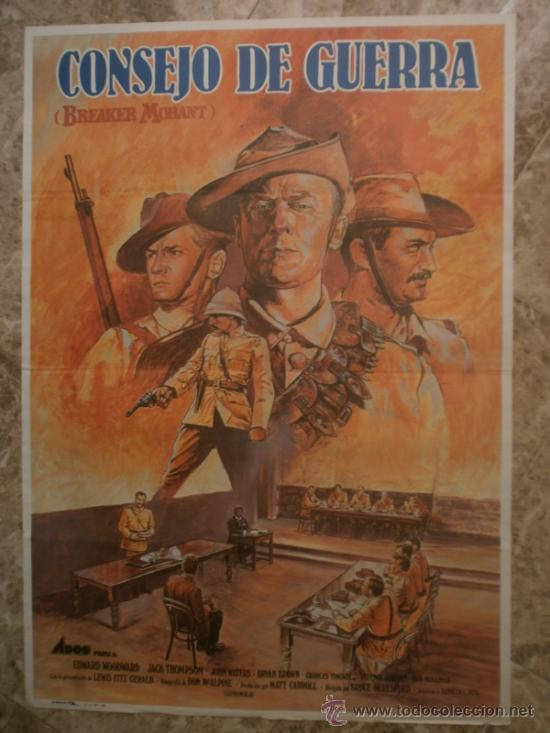 CONSEJO DE GUERRA. EDWARD WOODWARD, JACK THOMPSON. AÑO 1982. (Cine - Posters y Carteles - Bélicas)