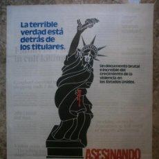 Cinema: ASESINANDO NORTEAMERICA. AÑO 1982.. Lote 35184121
