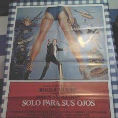 Cine: CARTEL SOLO PARA SUS OJOS ( 1981) JAMES BOND ROGER MOORE . Lote 35193642