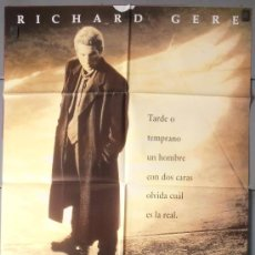 Cine: LAS DOS CARAS DE LA VERDAD,RICHARD GERE CARTEL DE CINE ORIGINAL 70X100 APROX (6366). Lote 35215424