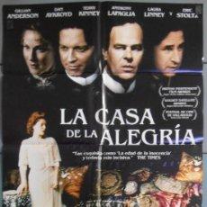 Cine: LA CASA DE LA ALEGRIA, CARTEL DE CINE ORIGINAL 70X100 APROX (6553). Lote 35230526