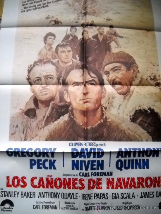 LOS CAÑONES DE NAVARONE - GREGORY PECK - PÓSTER 70X100 DE FILMAYER - 1982 (Cine - Posters y Carteles - Bélicas)