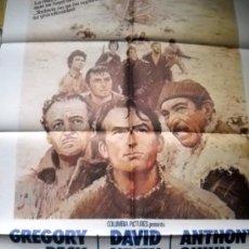 Cine: LOS CAÑONES DE NAVARONE - GREGORY PECK - PÓSTER 70X100 DE FILMAYER - 1982. Lote 35235201