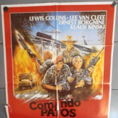 Cinema: COMANDO PATOS SALVAJES,CARTEL DE CINE ORIGINAL 70X100 CM CON ALGUN DEFECTO A 1€,VER FOTO (1147). Lote 35312290