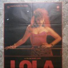 Cine: LOLA. ANGELA MOLINA, PATRICK BAUCHAU, FEODOR ATKINE, ASSUMPTA SERNA. AÑO 1989.. Lote 35322786